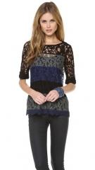 Ella Moss Short Sleeve Lace Top at Shopbop