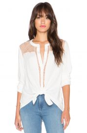 Ella Moss Stella Button Up Lace Blouse at Revolve