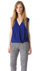 Ella Moss Stella Crepe Surplice Top at Shopbop