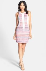 Ella Moss and39Pazand39 Print Front Zip Sheath Dress at Nordstrom