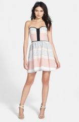 Ella Moss and39Zanand39 Strapless Jacquard Dress at Nordstrom