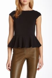 Ella Peplum Ponte Blouse at Nordstrom Rack