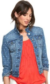 Elle Polka Dot Jean Jacket at Kohls