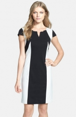 Ellen Tracy Colorblock Ponte Sheath Dress at Nordstrom