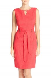 Ellen Tracy Cutout Woven Sheath Dress Regular and Petite at Nordstrom
