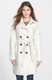 Ellen Tracy Double Breasted Trench Coat at Nordstrom