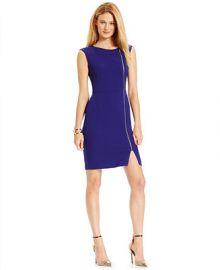 Ellen Tracy Side-Zip Sheath Dress at Macys