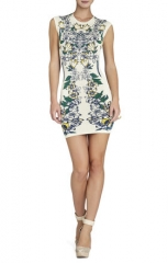 Ellena Floral Jacquard Dress at Bcbgmaxazria