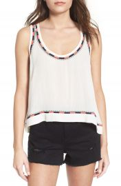 Elodie Embroidered Trim Tank at Nordstrom