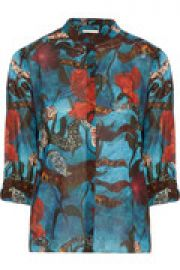 Eloise printed stretch-silk shirt at The Outnet