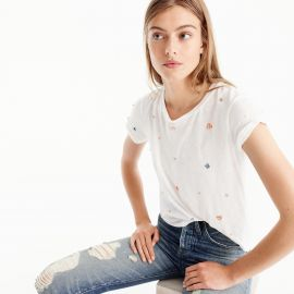 Embellished floral Tee at J. Crew
