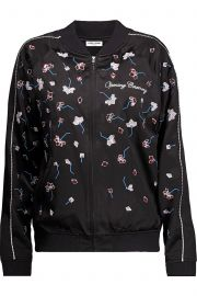 Embellished silk-satin bomber jacket at The Outnet