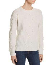 Embellished Aran-Knit Cashmere Sweater at Bloomingdales