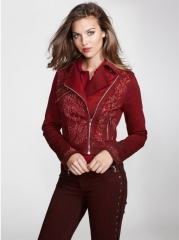Embellished Biker Jacket by Guess at Amazon