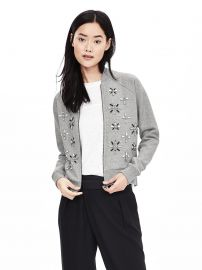 Embellished Bomber Jacket at Banana Republic