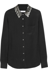 Embellished Brett Shirt by Equipment at The Outnet
