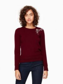 Embellished Brooch Sweater at Kate Spade
