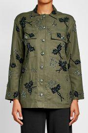 Embellished Cotton Jacket at Stylebop