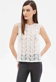 Embellished Crochet Lace Top  Forever 21 - 2000080808 at Forever 21
