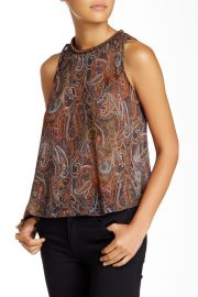 Embellished Neck Blouse Juniors at Nordstrom Rack