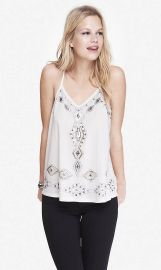 Embellished Racerback Trapeze Cami at Express