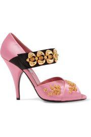 Embellished Satin Sandals by Prada at Net A Porter
