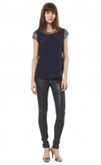 Embellished Tee at Rebecca Taylor
