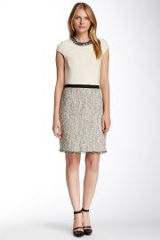 Embellished Tweed Silk Combo Dress at Nordstrom Rack