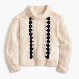 Embellished cable sweater at J. Crew