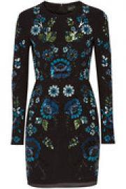 Embellished chiffon mini dress at The Outnet