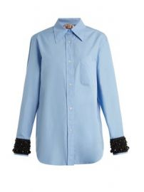 Embellished-cuff cotton shirt at Matches
