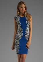 Embellished dress by bcbgmaxazria at Revolve