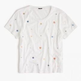 Embellished floral T-shirt at J. Crew
