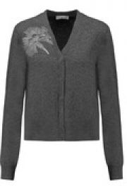 Embellished merino wool cardigan at The Outnet
