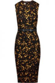 Embellished printed stretch-cotton dress at The Outnet