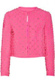 Embellished quilted crepe jacket at The Outnet
