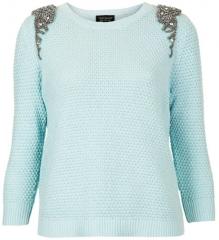 Embellished shoulder sweater by Topshop at Nordstrom