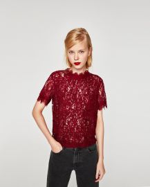 Embroidered Lace Top by Zara at Zara