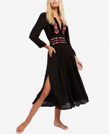 Embroidered Midi Dress by Free People at Macys