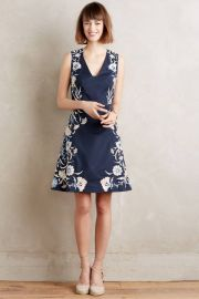 Embroidered Bellflower Dress at Anthropologie