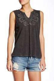 Embroidered Bib Tank at Nordstrom Rack