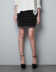 Embroidered Fantasy Skirt at Zara