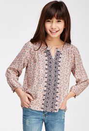 Embroidered Floral Peasant Top Kids  Forever 21 girls - 2052287874 at Forever 21