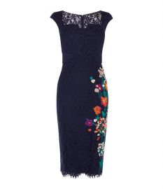 Embroidered Lace Dress at Karen Millen