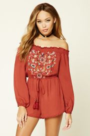 Embroidered Romper   Forever 21 - 2000231532 at Forever 21