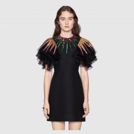 Embroidered Sequin Tulle Dress by Gucci at Gucci