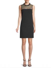 Embroidered Sheath Dress by Karl Lagerfeld at Gilt
