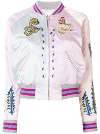 Embroidered Snakes Bomber Jacket by Diesel at Farfetch