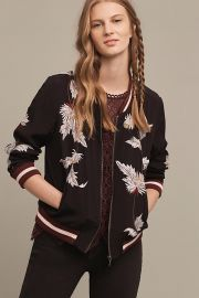 Embroidered Solstice Bomber at Anthropologie