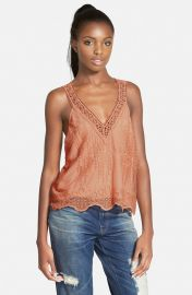 Embroidered V-Neck Tank by ASTR at Nordstrom